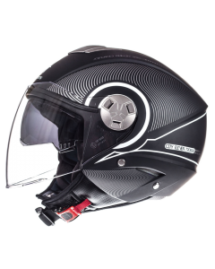 Helm MT Tron Zwart / Wit Maat XL (MT-101838027)