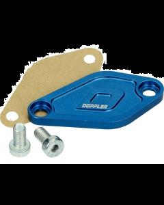 Afdekplaat Oliepomp Doppler Derbi Senda / Minarelli AM6 blauw (DOP-479555)