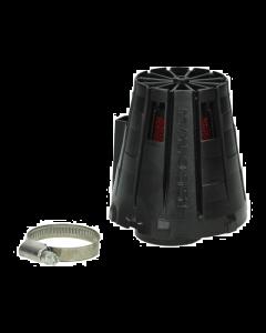 Luchtfilter Malossi E5 38mm recht zwarte cover (MAL-04 2411.C0)