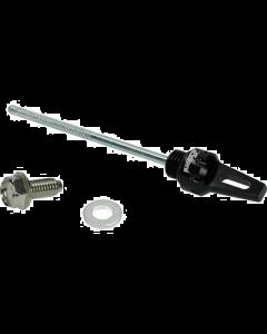 Carter olieplug Zelioni Zwart CNC Vespa (ZEL-DPG001B)