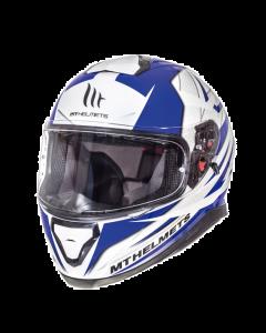 Helm MT Thunder III Wit / Blauw Maat S (MT-105635714)