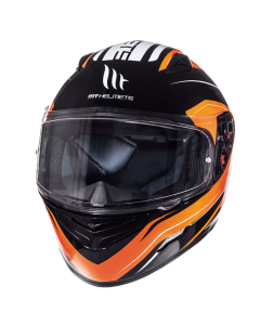 Helm MT Mugello Zwart / Oranje Maat L (MR-110337836)