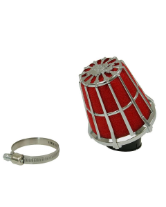 Luchtfilter Malossi E5 38mm schuin chroom open (MAL-04 7593.K0)