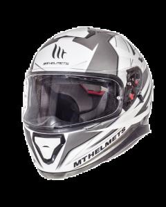 Helm MT Thunder III Wit / Zilver Maat XXL (MT-105635708)