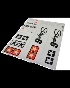 Stickerset Stage6 - MKII Wit - 20 delig - 50 x 39 cm (S6-0502/W)
