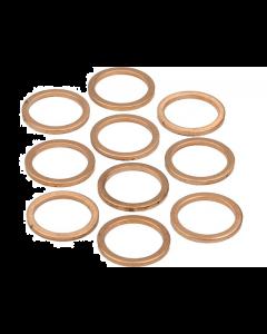 Koperenring 16x20mm 10 stuks (MOK-10158)
