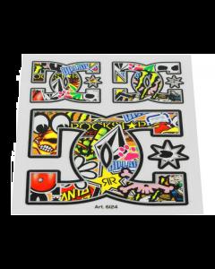 Stickerbomb sticker DC 10cm (T4T-050263)
