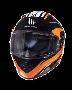 Helm MT Mugello Zwart / Oranje Maat M (MT-110337835)