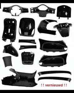 Kappenset glans zwart 17 delig AGM VX50, BTC Riva, Vespelini (DMP-78551)