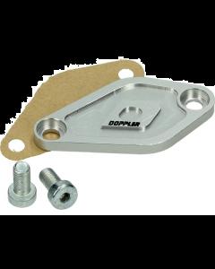 Afdekplaat Oliepomp Doppler Derbi Senda / Minarelli AM6 zilver (DOP-479558)