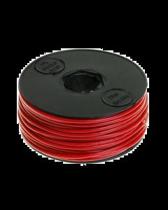 Montagesnoer / Lichtsnoer rood 25 meter (UNI-120625)