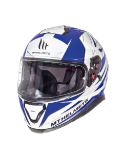 Helm MT Thunder III Wit / Blauw Maat L (MT-105635716)