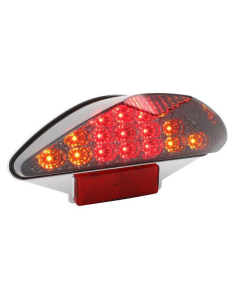 Achterlicht MBK Nitro, Yamaha Aerox LED Smoke met knipperlichtfunctie (DMP-25009)