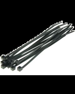 Kabelbinders / Tie Rib - Zwart - 2,6 x 200 mm - 100 Stuks (UNI-DG580330)