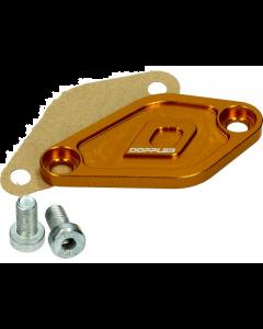 Afdekplaat Oliepomp Doppler Derbi Senda / Minarelli AM6 goud (DOP-479561)