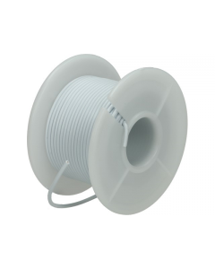 Montagesnoer / Lichtsnoer  0.75 mm²  Wit 25 Meter (UNI-496254)