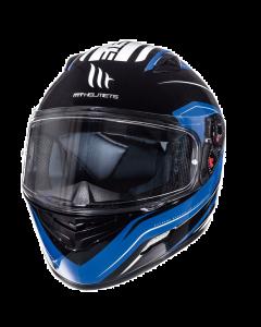 Helm MT Mugello Zwart / Blauw Maat S (MT-110337824)