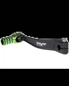 Schakelpedaal TNT Derbi Senda carbon / groen (TNT-090326E)