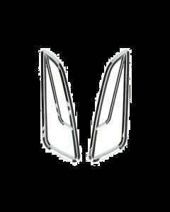 Knipperlicht roosters chroom Vespa Primavera en Sprint (DMP-38630)