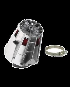 Luchtfilter Malossi E5 38mm schuin chrome cover (MAL-04 7593.W0)