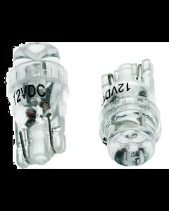 Lamp 12V T10 LED wit 2 stuks (UNI-133623)