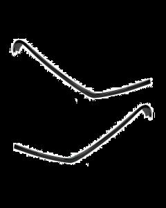 Sierlijst set beenschild glans zwart 3-delig Vespa Primavera, Sprint (DMP-38220)