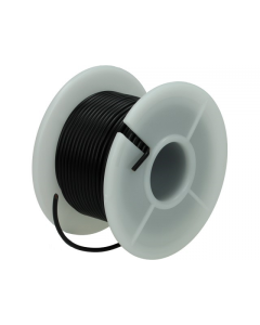 Montagesnoer / Lichtsnoer  0.75 mm²  Zwart 25 Meter (UNI-496247)