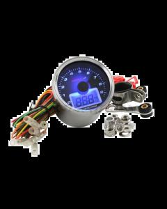 Toerenteller + Oliedrukmeter Koso - Blauwe verlichting (KO-BB551B20)