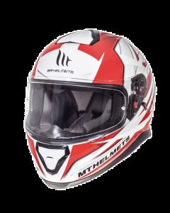Helm MT Thunder III Wit / Rood Maat S (MT-105635724)