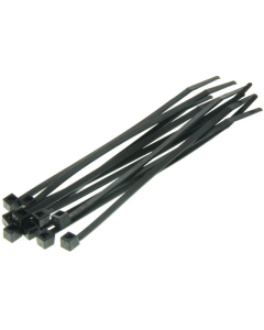 Kabelbinders / Tie Rib - Zwart - 4,5 x 160 mm - 100 Stuks (UNI-DG580400)