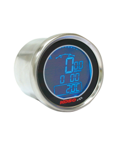 Toerenteller Temperatuurmeter Koso - Black Edition met Blauwe Verlichting (KO-BA552B80)