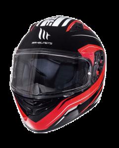 Helm MT Mugello Zwart / Rood Maat M (MT-110337805)