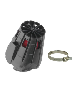 Luchtfilter Malossi E5 38mm schuin zwarte cover (MAL-04 7593.C0)
