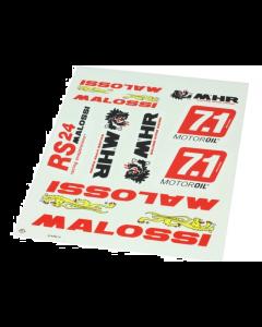 Stickerset Malossi 10 delig 34 x 24 cm (MAL-33 9780.16)