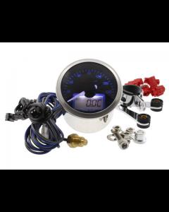 Toeren en Temperatuurmeter Koso - Blauwe verlichting met zelftest (KO-BA551B20)