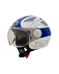 Helm MT - Urban - Blauw / Wit (MT-8873*)