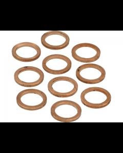 Koperenring 12x16mm 10 stuks (MOK-10154)