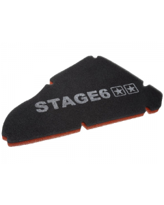 Luchtfilter element Stage6 - Dubbel laags - Gilera & Piaggio - Nieuw model (S6-35078)