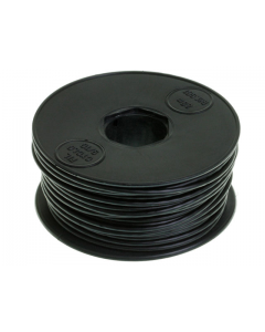 Montagesnoer / Lichtsnoer zwart 25 meter (120624)