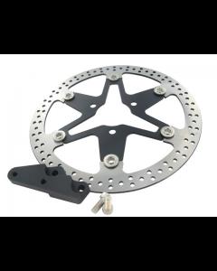 Remschijf Stage6 - MKII Star - Oversize - Zwart - Edelstaal - Yamaha Aerox / Neo's (S6-1216650/VA)