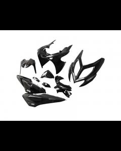 Kappenset STR8 9 delig Yamaha Aerox, MBK Nitro vanaf 2013 Zwart (STR-951/BK)