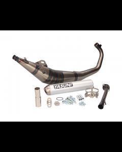 Uitlaat Yasuni R1 Max aluminium Minarelli AM6 (o.a: Aprilia RS50, Rieju RS, Yamaha TZR) (YAS-TUB903X)