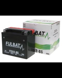 Accu Fulbat YTX12-BS MF 12V 10Ah (Onderhoudsvrij) (FB-550603)