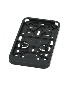 Kentekenplaathouder zwart staand (UNI-125999)