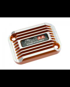 Rempot deksel Stage6 - Cooling Style - Aprilia SR tot 2005 - Oranje (S6-SSP082-2BZ/OR)