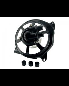 Waterpomp deksel STR - Extrememe Cut - Minarelli Horizontaal - Zwart (STR-500.51/BK)