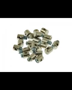 Gasnippel / Schroefnippel - 5,5 x 6 mm (UNI-2015)