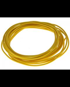Montagesnoer / Lichtsnoer - 0.5 mm² - Geel - 5 Meter (UNI-88269)