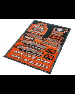 Stickerset - Sponsorkit KTM - 14 delig - 33 x 23 cm (FAL-982039)