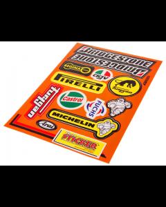 Stickerset - Bridgestone / Castrol - 13 delig - 33 x 23 cm (FAL-982028)